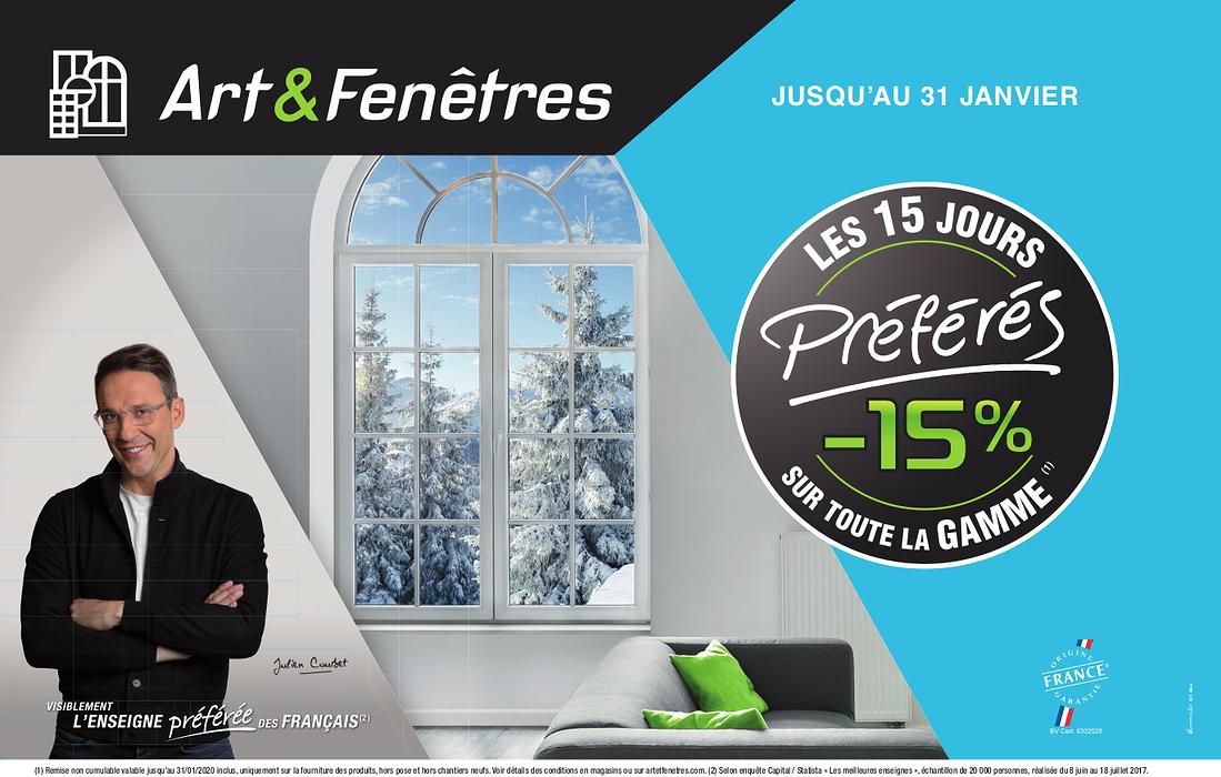 -15% sur la gamme Art et Fenêtres (1) 0