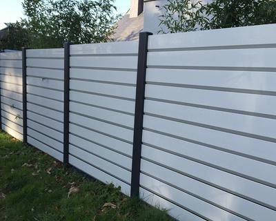 Clôture PVC blanc