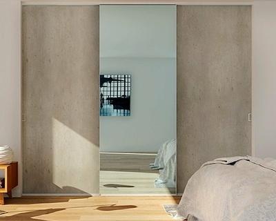 Façades coulissantes Trianon et miroir