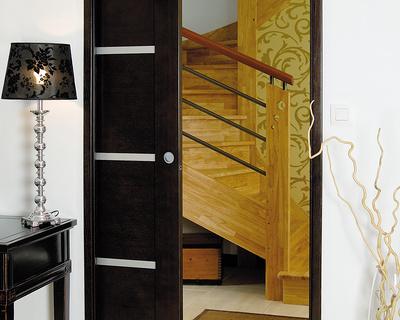 Porte à galandage - bois et inclusions- Modèle Ambiance