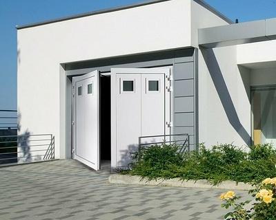 Porte de garage battante ouverture à la française