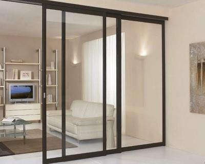 Séparation de pièce vitres claires - 3 vantaux