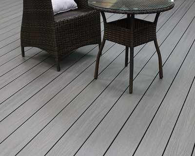 Terrasse composite Soltéa gris béton