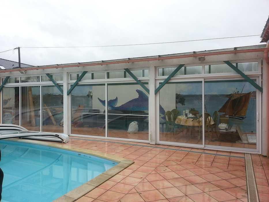 Baies vitrées alu pour aménagement terrasse 0