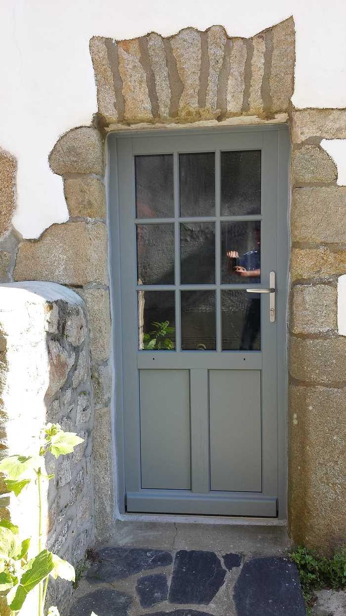 Porte d''entrée vitrée bois - Ville - Morbihan - 56 20160707102551