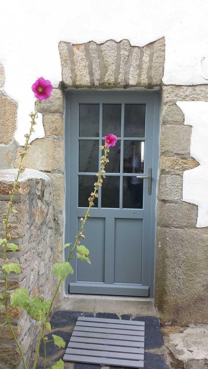 Porte d''entrée vitrée bois - Ville - Morbihan - 56 0
