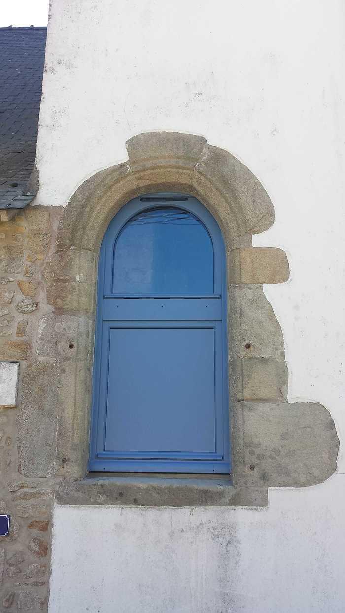 Fenêtres bois bleu - maison bretonne - Morbihan - 56 20170407151945