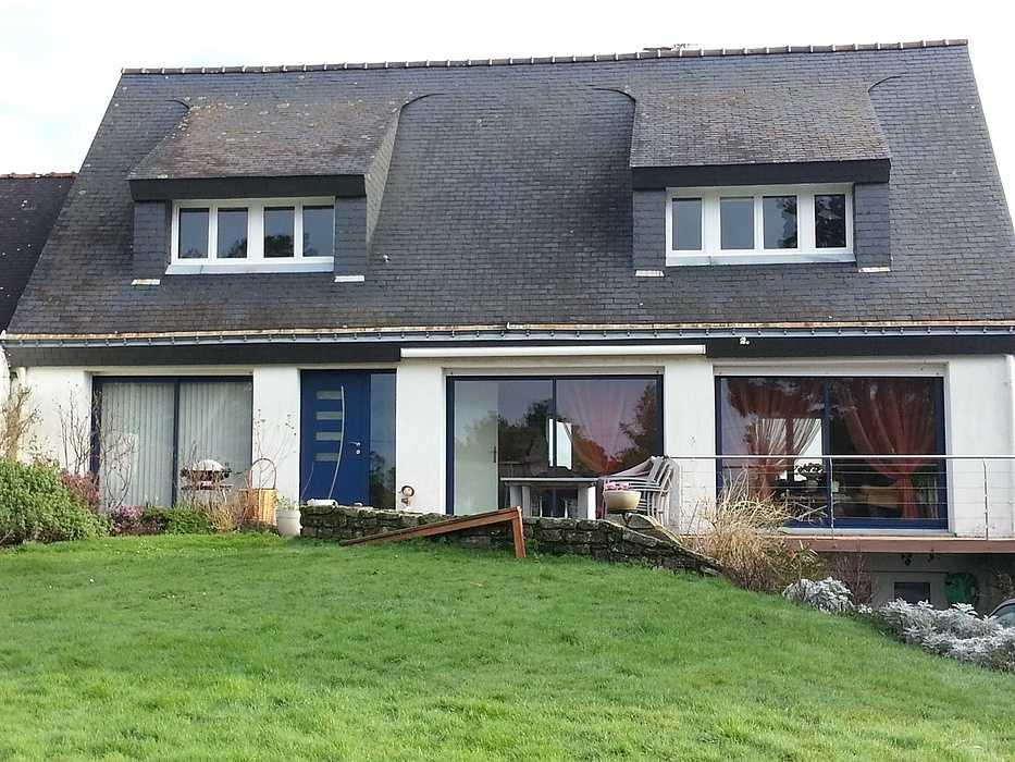 Rénovation : baies vitrées coulissantes alu - Avant / après b231