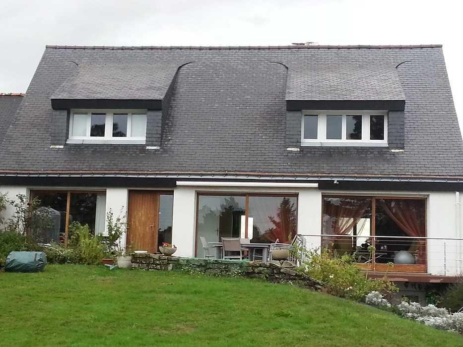 Rénovation : baies vitrées coulissantes alu - Avant / après b230