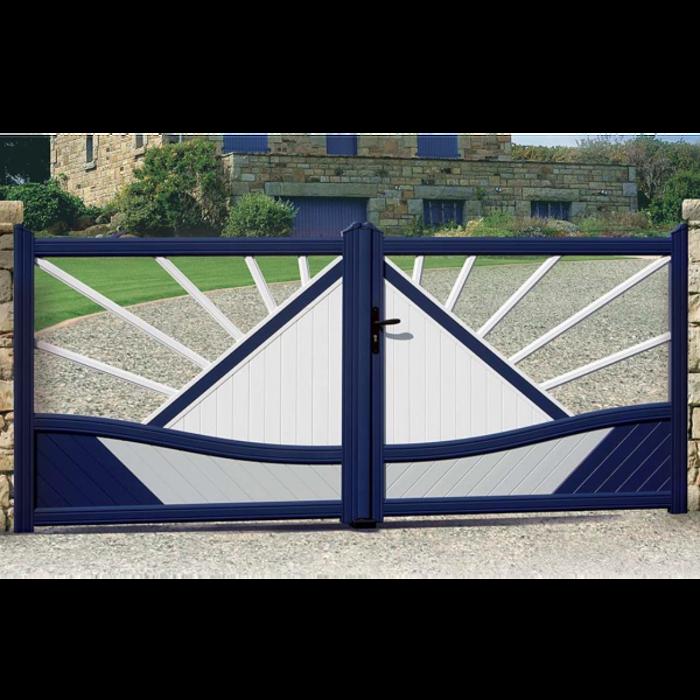 Portail de clôture en aluminium 0