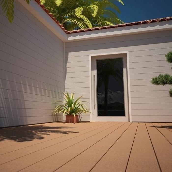Terrasse en composite brun exotique 0