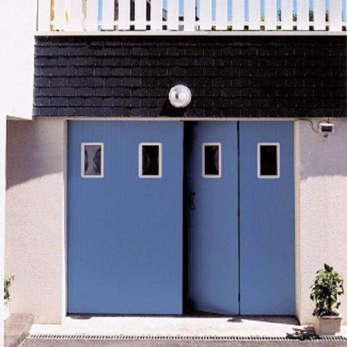 Porte de garage ouverture battante, ouverture à la française 0