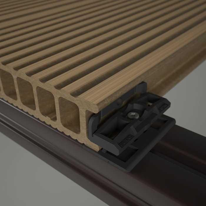 Terrasse composite assemblage par clips 0