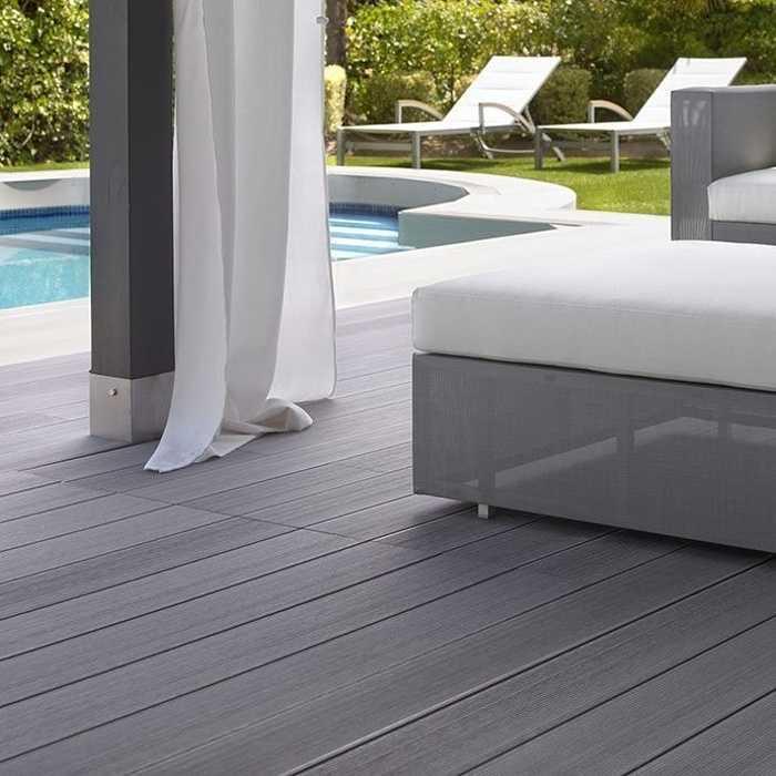 Terrasse composite brun noisette 0