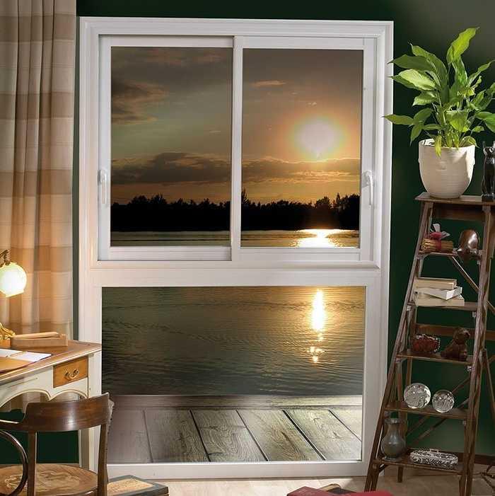 Fenêtre alu composée 2 vantaux coulissants sur allege 0