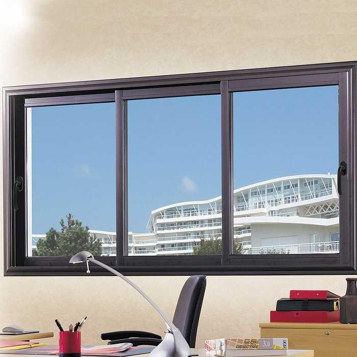 Fenêtre coulissante 3 vantaux en alu 0