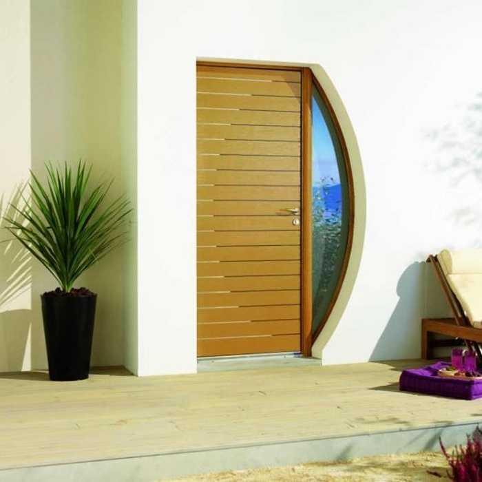 Porte d''entrée en bois 0
