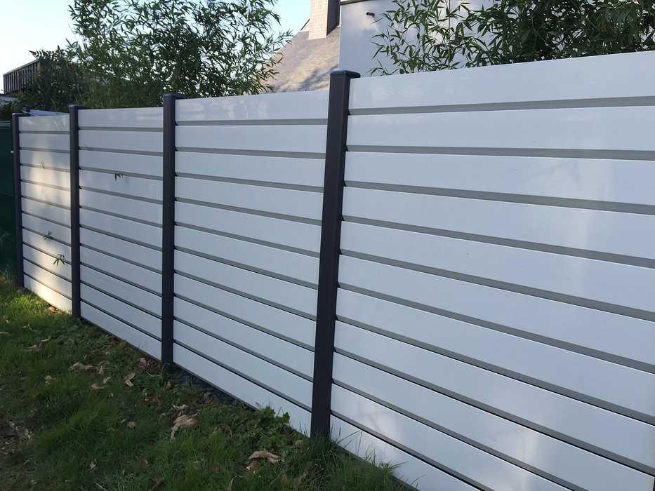 Clôture PVC blanc 0