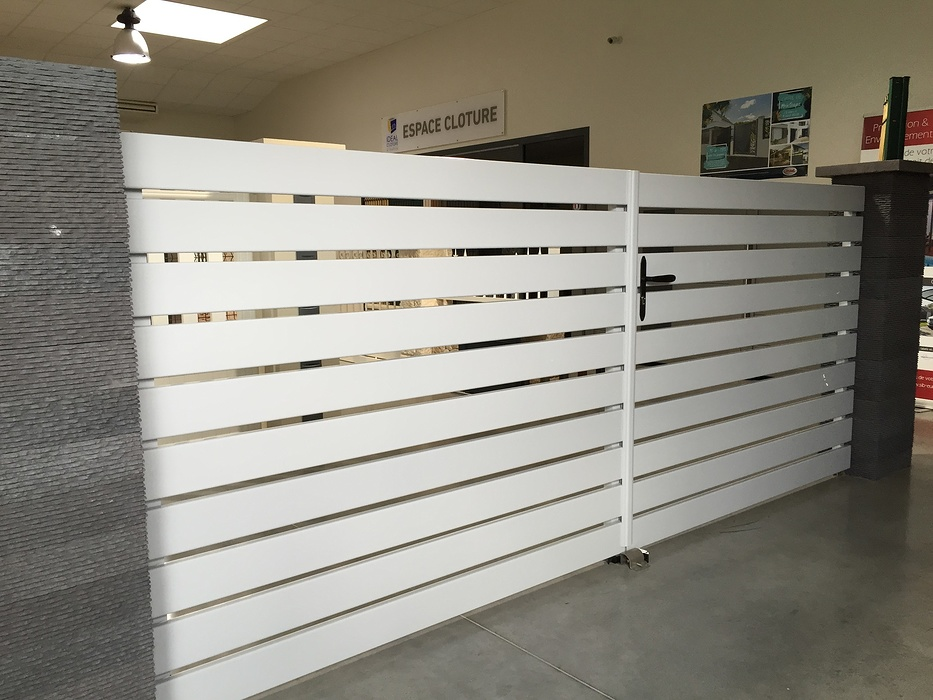 Portail PVC blanc - modèle Melbourne 0