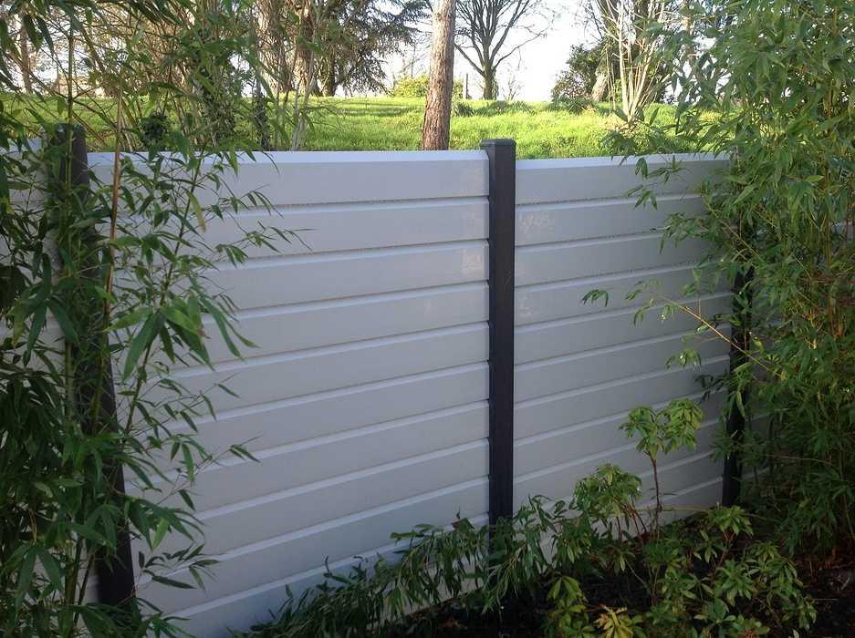 Clôture PVC Lame blanche 0