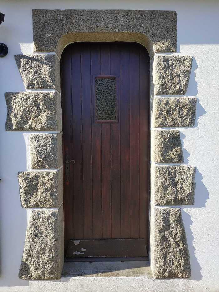 Porte d''entrée en alu - Locqueltas - Vannes - Morbihan 01avant2