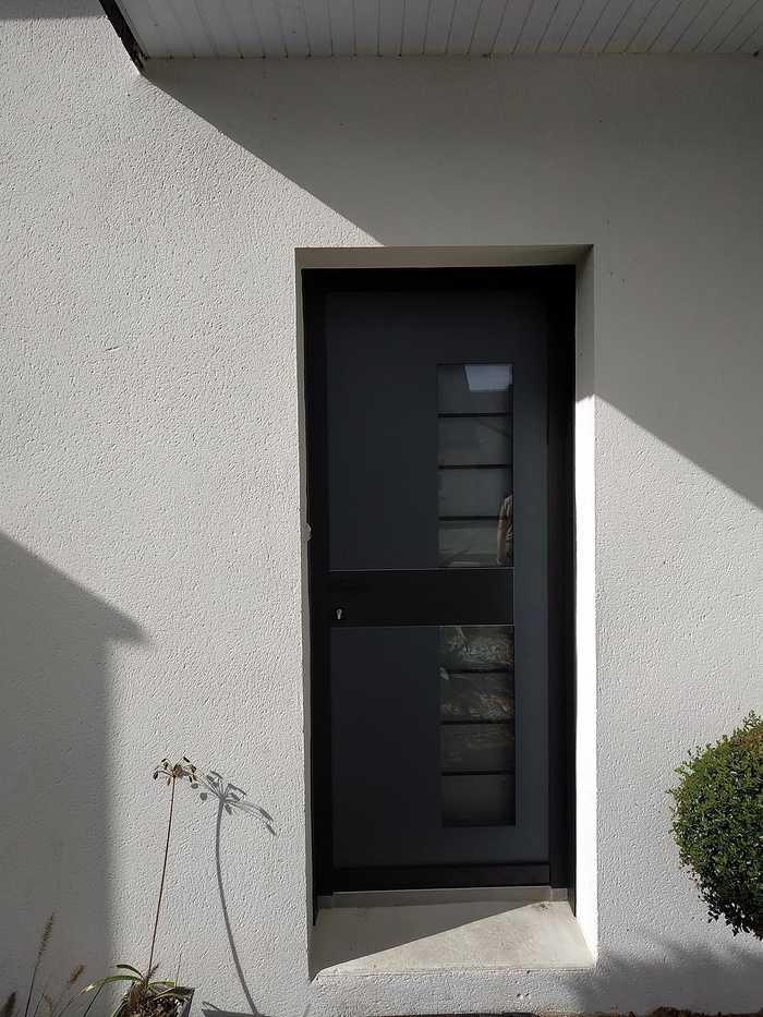 Porte d''entrée Samouraï en aluminium - Plescop (56) 0