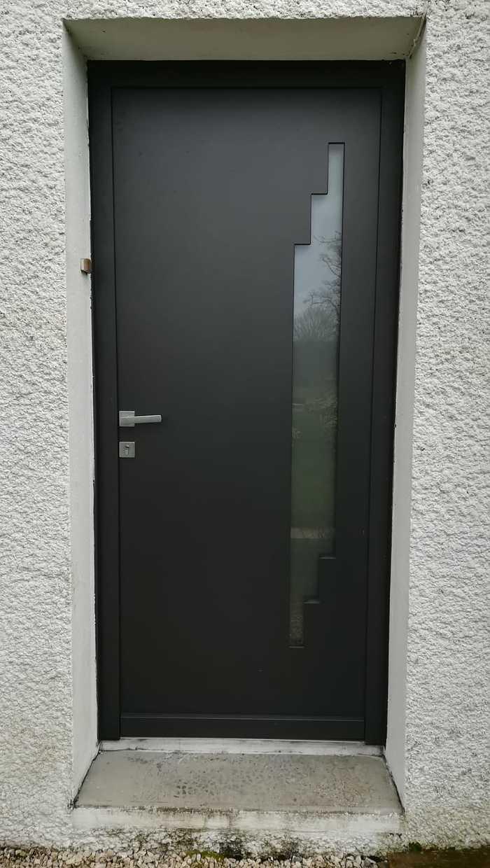 Porte d''entrée - alu sablé noir - Colpo - 56 0