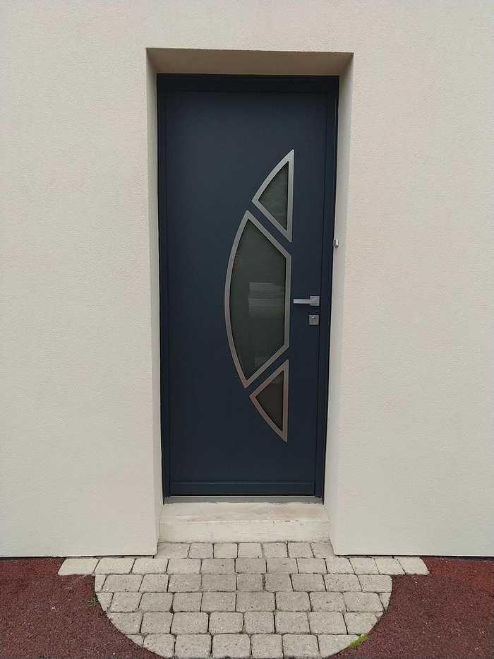 Porte d''entrée aluminium - gris anthracite - Séné 6a958ea3-a3dc-46bd-b2d4-3720f1bfad51